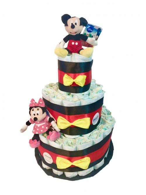 Tarta-de-pañales-Mickey-Minnie-MomentosGourmet